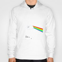 dark side of the moon Hoodies featuring Dark Side of the Moon by Nerdiful Art