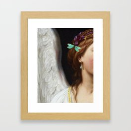 Angel With A Pearl Earring Framed Art Print