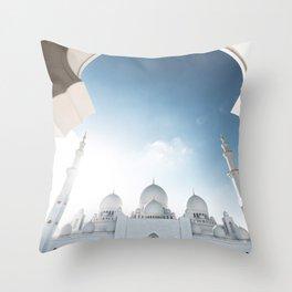 abu dhabi zayed mosque Throw Pillow