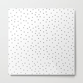 Dots White Metal Print
