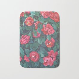 Camellias, lips and berries. Bath Mat