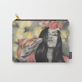 Fox & Flowers Carry-All Pouch