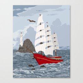 Red ship Canvas Print