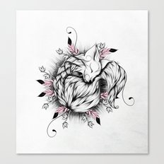 Little Fox Pink Version  Canvas Print