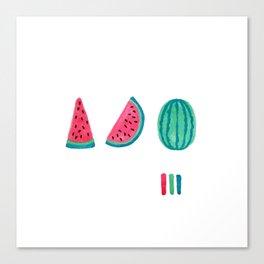Watermelon Sequence Canvas Print