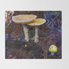 Fungi on Vancouver Island, BC Throw Blanket