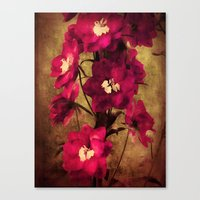 vintage flowers Canvas Prints featuring Vintage Flowers by Christine Belanger