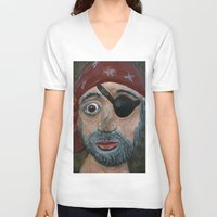 pirate V-neck T-shirts featuring Pirate by Fine2art