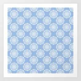 Kitchen cutlery blue Art Print