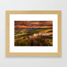 Sunset at Hathersage Framed Art Print