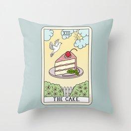 CAKE READING Throw Pillow