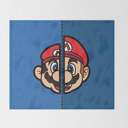 Old & New Mario Throw Blanket