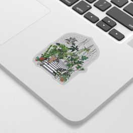 greenhouse illustration Sticker