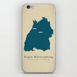 Modern Map - Baden-Wuerttemberg DE new design refreshed iPhone Skin