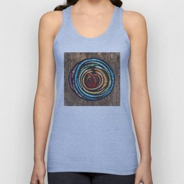 Abstract Mosaic Color Wheel Unisex Tank Top