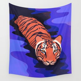 Tiger water Wall Tapestry