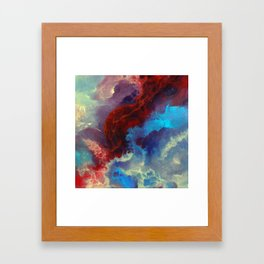 Everything begins with a spark Framed Art Print