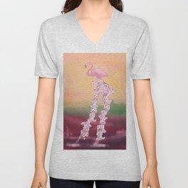 Flamingo, the Elegant Unisex V-Neck