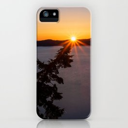 Sunset Tree Top iPhone Case
