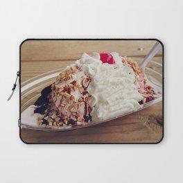 Ice cream sundae with chocolate ,peanuts and cherry Laptop Sleeve