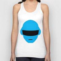 deadmau5 Tank Tops featuring Daft Punk Thomas Bangalter Helmet by Alli Vanes
