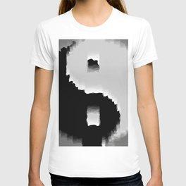 grunge yin yang T-shirt