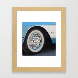 Vintage Car Wheel Framed Art Print