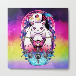 Kyubey and Charlotte Metal Print