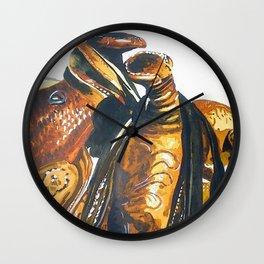 Two Saddles: Wall Clock