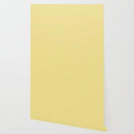 Yellow Honey Cube Pattern Wallpaper