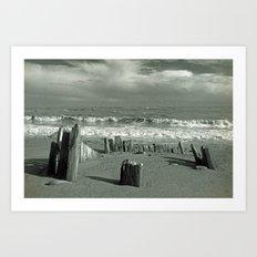 BEACH WORSHIP Art Print