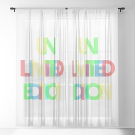 Unlimited Edition Sheer Curtain