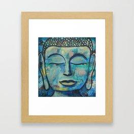 Blue Zen Buddha Framed Art Print
