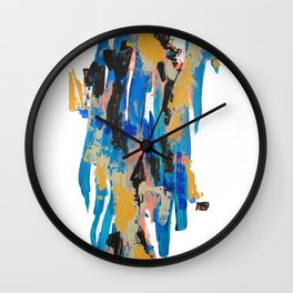 Yellow Claw-Man Was Here Wall Clock