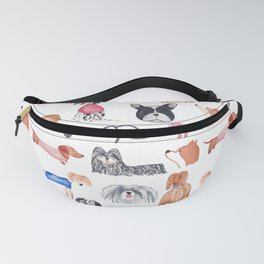 Doggie Assembly | Watercolour | Dogs | Pattern Fanny Pack