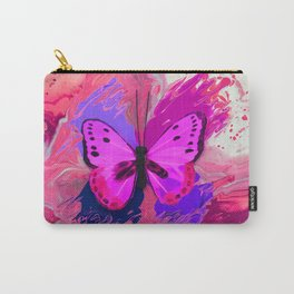 Purple Pink Butterfly Carry-All Pouch