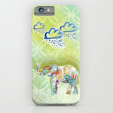 Elephant and Flowers Slim Case iPhone 6s