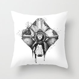 Decaying Ghost Shell Throw Pillow