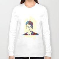 david tennant Long Sleeve T-shirts featuring David Tennant - Doctor Who by lauramaahs