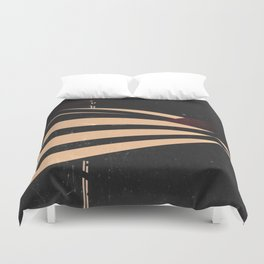 Vintage Film Lines Abstract Duvet Cover