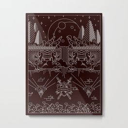Band Poster Design - 'Fineshrine' - Purity Ring Metal Print