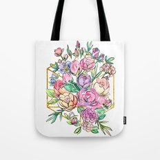 Floral Geometry Tote Bag