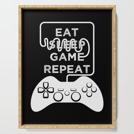 Eat Sleep Game Repeat Serving Tray