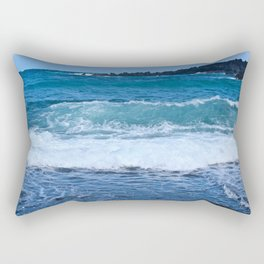 Black Rock Beach Rectangular Pillow