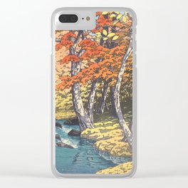 Japanese Woodblock -  Autumn in Oirase by Kawase Hasui, 1933 Clear iPhone Case