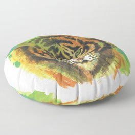 tiger stare Floor Pillow
