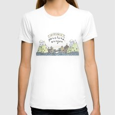 We Belong in Portland Womens Fitted Tee SMALL White