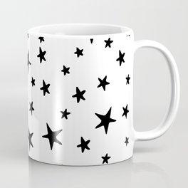 Stars - Black on White Coffee Mug