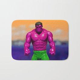 Purple pop action figure Bath Mat
