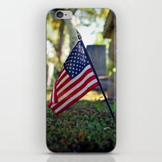 Solitary flag iPhone & iPod Skin